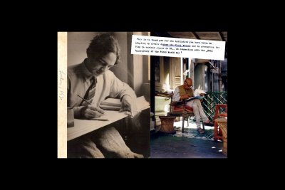 Mulk Raj Anand in London in 1930 & in Bombay in 2000. Courtesy Kewal Anand 1930 image, Stewart Fraser 2000 image
