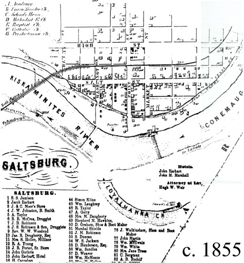Saltsburg, PA : Saltsburg Borough, Indiana County