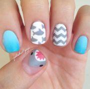 killer shark week nail art - salty