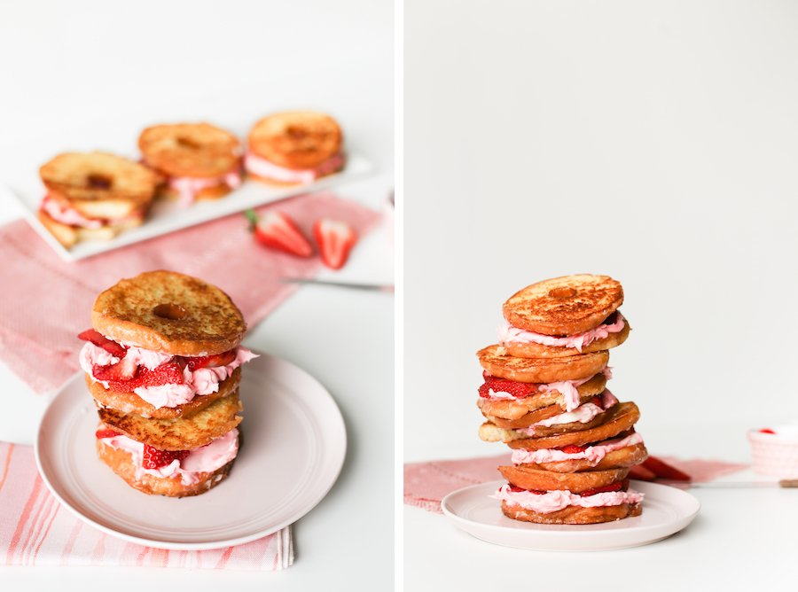 Strawberry Mascarpone Donut Grilled Cheese Sandwich