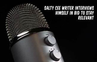 In a Desperate Attempt to Stay Relevant, Salty Cee Writer Interviews Himself