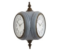 Double Sided Wall Clock   Salty Home