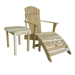 Unfinished Adirondack Chair Outdoor Wicker Rocking Accent Table Salty Home 54 00