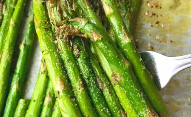 Garlic Roasted Asparagus In The Oven Keto Side Dish