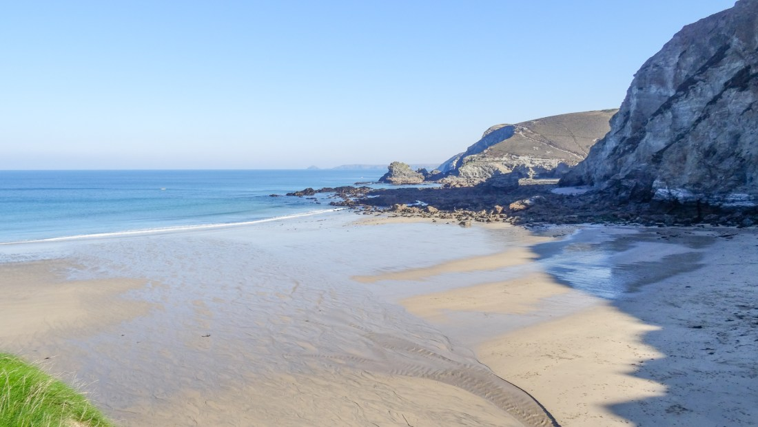 the beach at st agnes