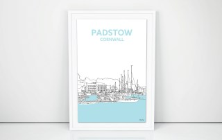 Padstow Harbour Framed Art Print