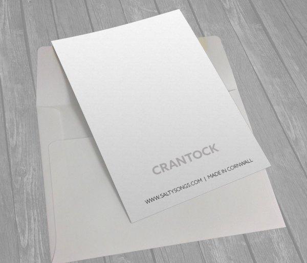 Crantock Back Greeting card