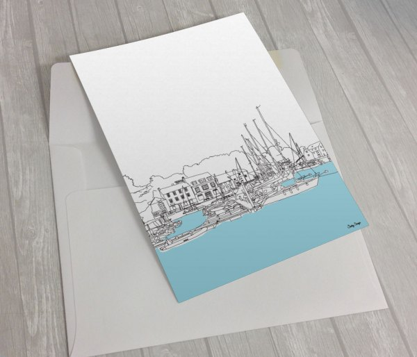 Padstow-harbour-greeting card