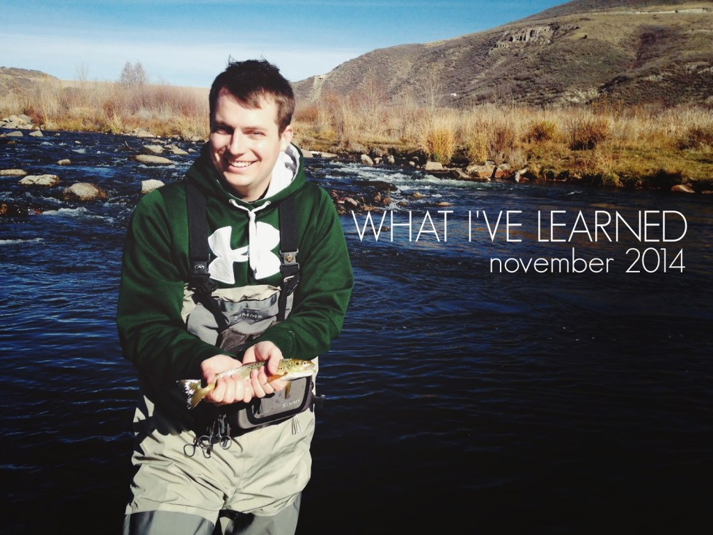 What I've Learned: November 2014