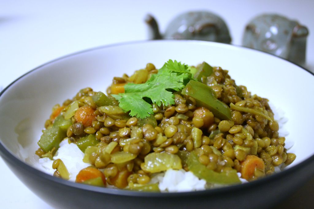 Hearty Green Lentil Curry