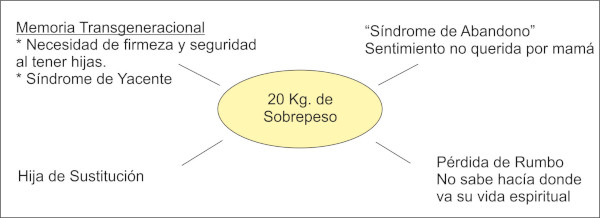 Mapa mental paula. Causas del sobrepeso en este caso clínico