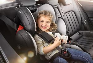 How should children travel in the car