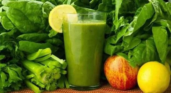 jugo de espinacas y manzana