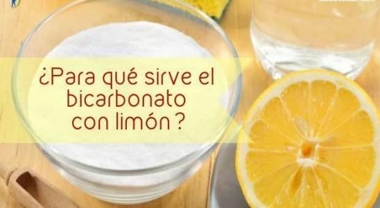 para que sirve el limon con bicarbonato