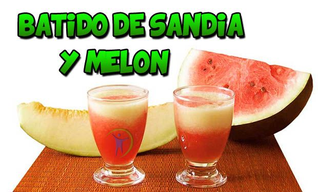 batido de sandia y melon para adelgazar