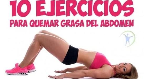 ejercicios para quemar grasa del abdomen