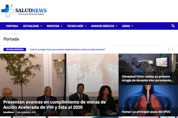 SaludNews es nominado al Premio Nacional de Periodismo Digital