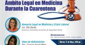 Sodomefyc invita a conferencia sobre aspectos legales de la medicina en tiempos de pandemia
