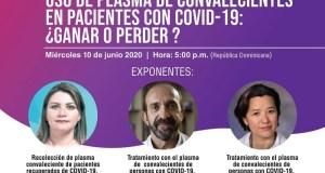Sociedad Infectología invita a webinar sobre uso de plasma en pacientes de COVID-19
