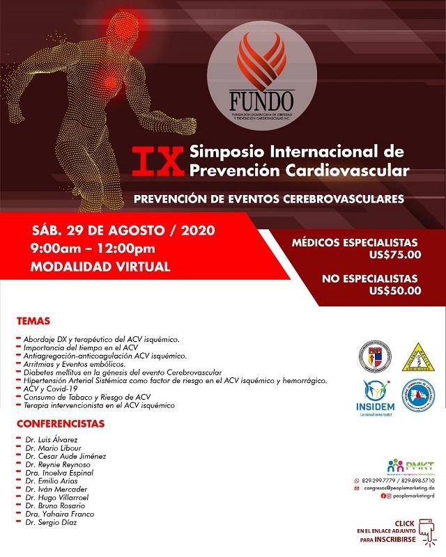FUNDO realizará IX Simposio Internacional Prevención Cardiovascular