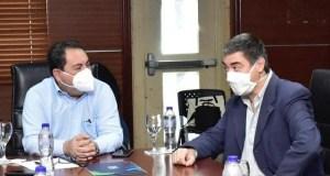 Mario Lama recibe al nuevo representante OPS/OMS en el país Olivier Ronveaux