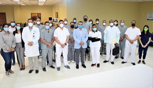 Hospital Ney Arias Lora junto a la SDOT realizan entrenamiento Artroscopia de hombros