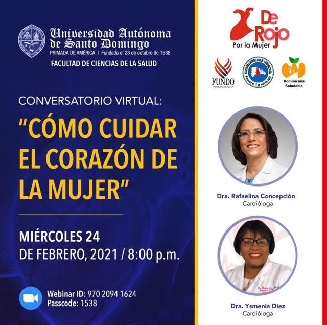 Realizarán conversatorio sobre la salud femenina y el corazón