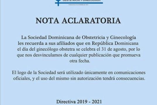 Sociedad Ginecobstetras desmiente publicación celebraba fecha conmemorativa