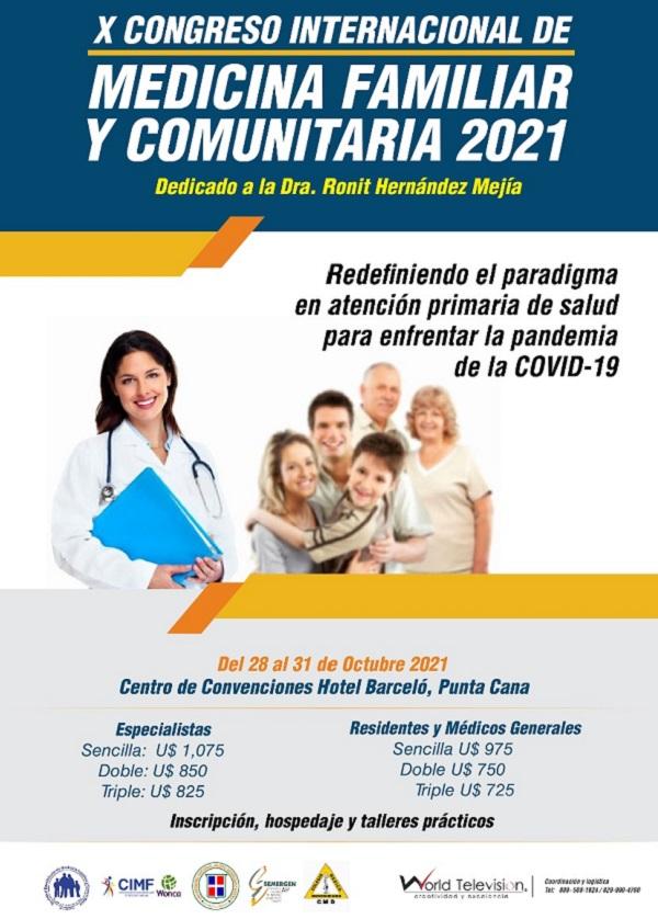 Medicina Familiar anuncia su X Congreso Internacional