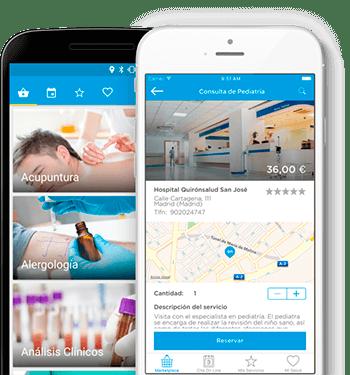 Android y iPhone con la App de SaludOnNet