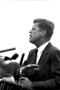 John F.Kennedy campaigning at SIU in 1960.