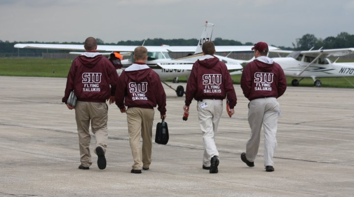 CLICK on one of the Flying Salukis for the story...