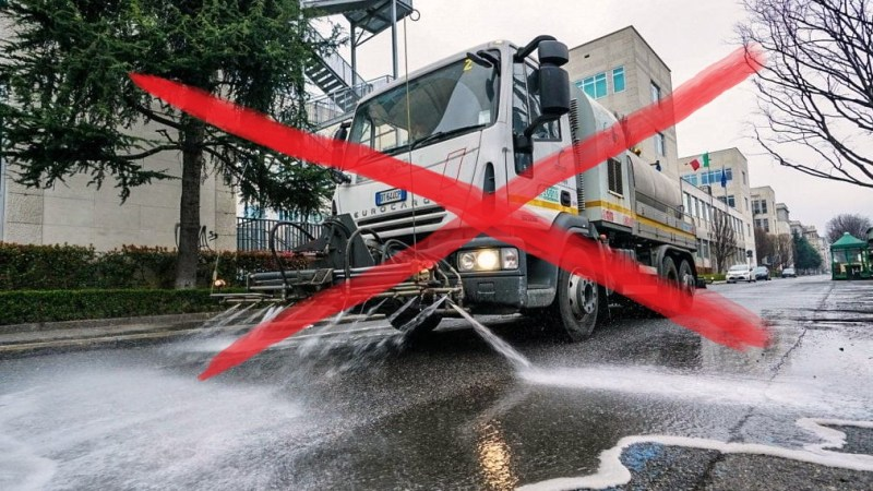 Il Comune di Salussola non disinfesterà le strade perché non c'è nessuna implicazione con la trasmissione del coronavirus
