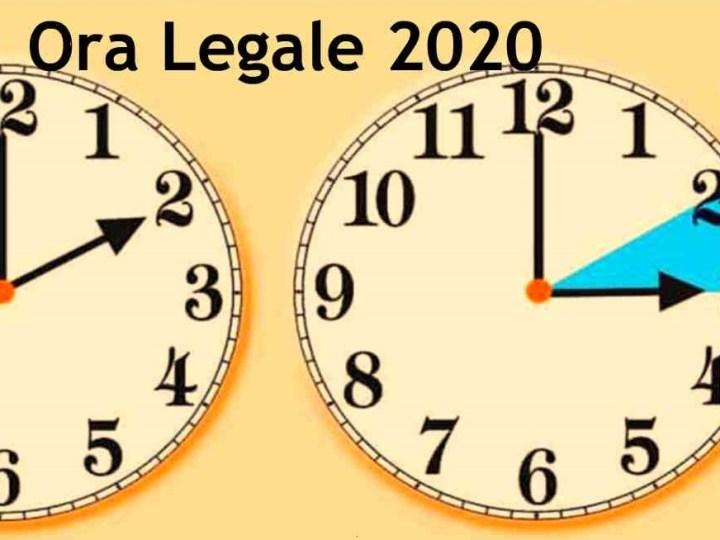 Domenica 29 marzo ritorna l'ora legale
