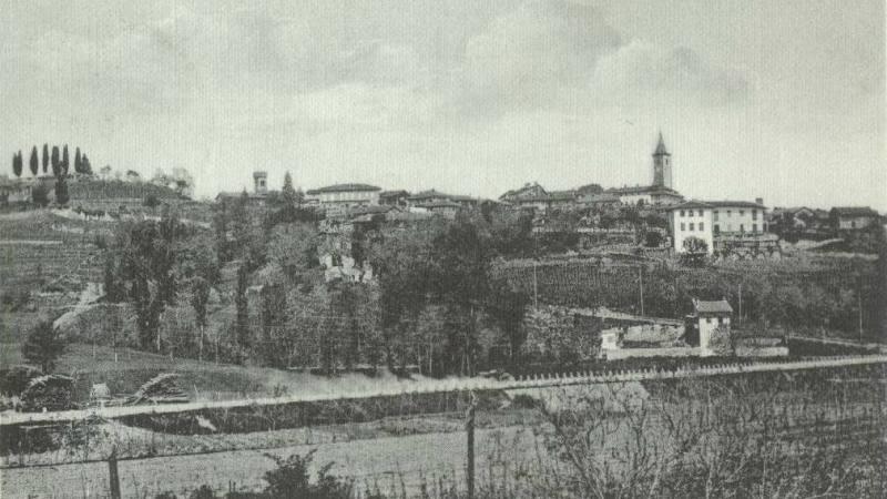 Vecchia Salussola: Camionabile di Biella e veduta del borgo alto negli anni del 1910
