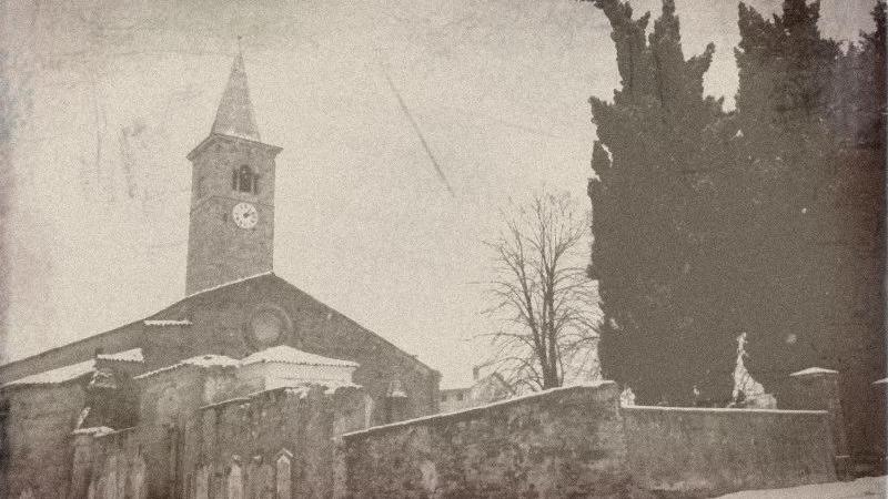 Vecchia Salussola: In questa foto degli anni del 1980 quello che è rimasto del vecchio cimitero