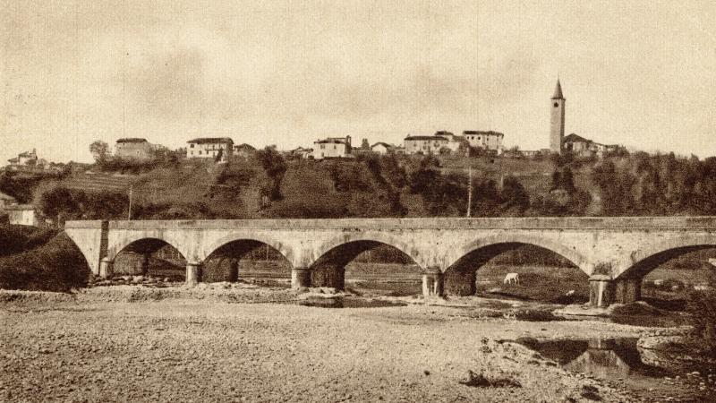 Vecchia Salussola: Ponte ferroviario sull'Elvo visto negli anni del 1930