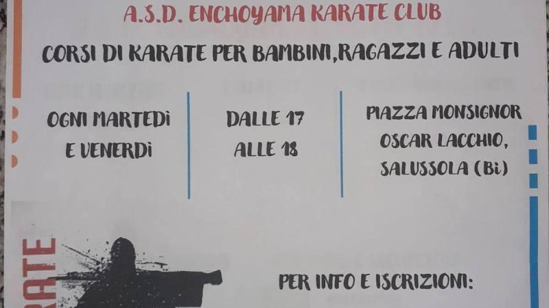 L'A.S.D. Enchoyama Karate Club Salussola ti offre 2 prove gratuite