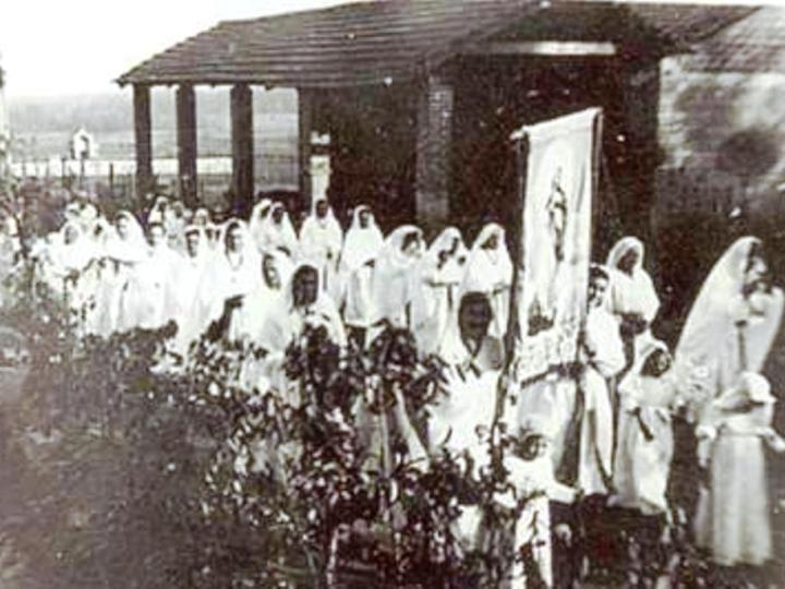 Vecchia Salussola:  Peregrinatio Mariae a San Secondo nel 1949