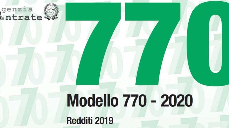 Scade il 31 ottobre il modello 770/2020