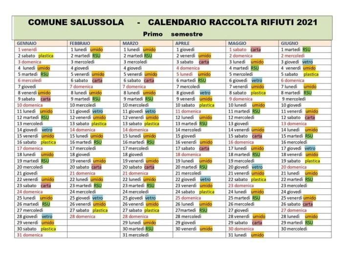Il calendario raccolta rifiuti del 2021 da scaricare e o stampare
