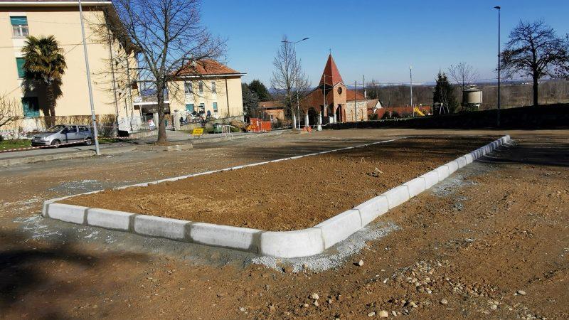 Prende forma la pavimentazione di Piazza beato Pietro Levita. FOTOGALLERIA