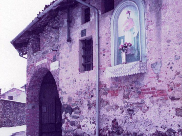 Vecchia Salussola: Via Pietro Micca angolo Vietta primi anni del 1980