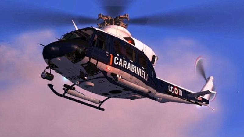 Manovre di elicotteri nel cielo di Salussola