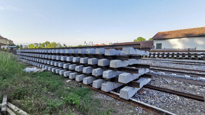 Ferrovia Biella Santhià: Oggi si rinnova il secondo binario in stazione a Salussola