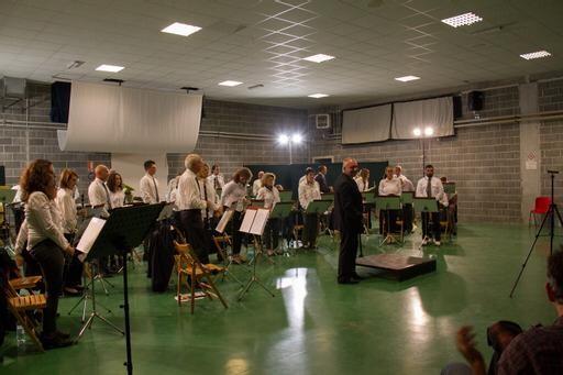 Foto della Banda Musicale di Salussola nel concerto benefico la sera del 25 settembre