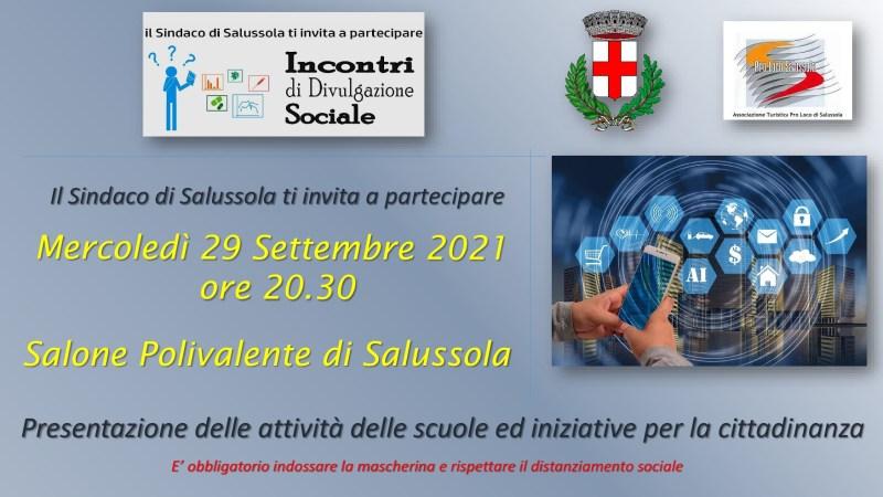 Stasera al Polivalente presentazione delle attività delle scuolee iniziative per la cittadinanza