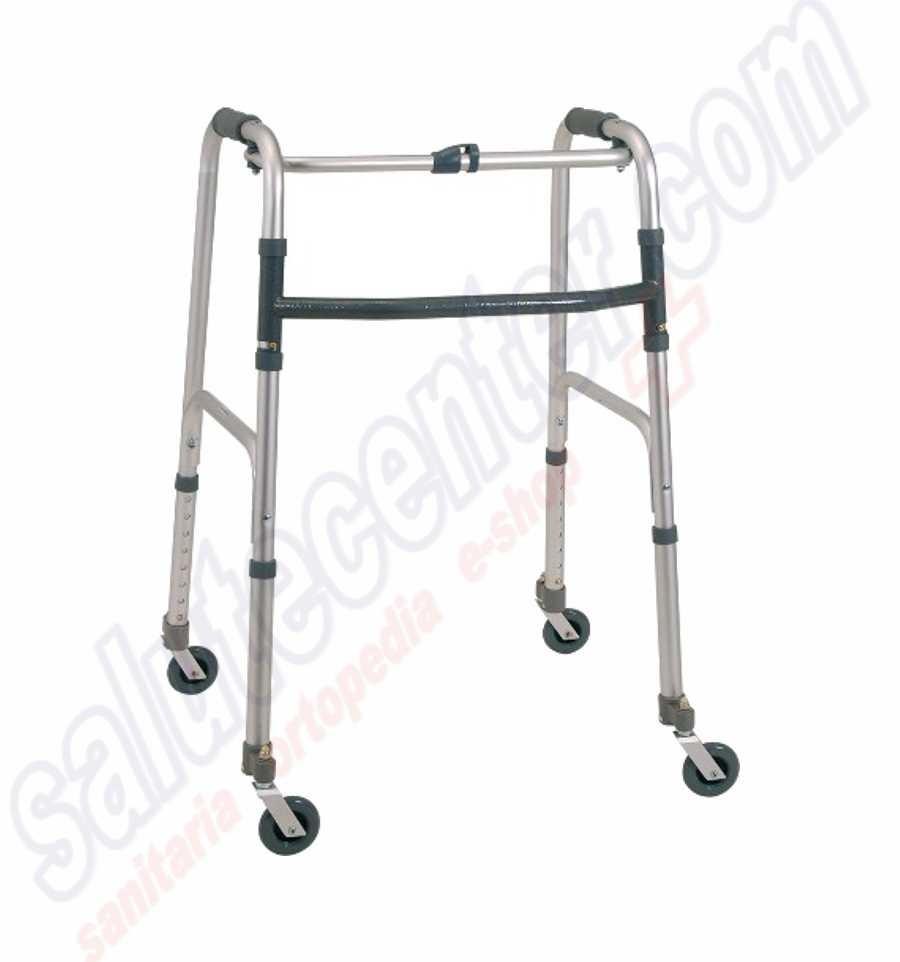 Deambulatore per anziani e disabili a 4 Ruote piroettanti