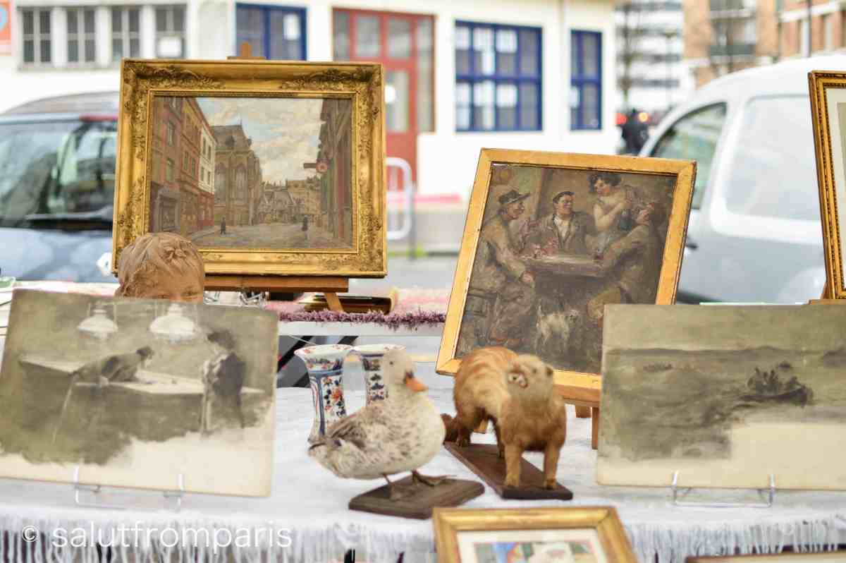 The Puce de Vanves offers all sorts of antique and vintage goods