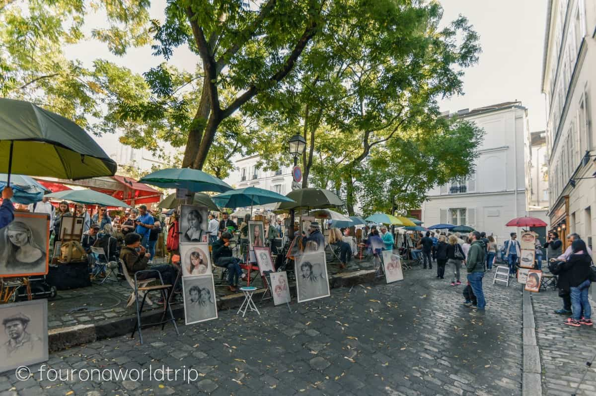 The Place du Tertre at la butte montmartre is the best place to see montmartre artists.